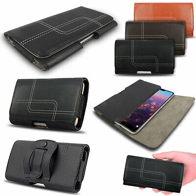 £3.99 • Buy Universal Belt Pouch Clip Hip Loop Case For Mobile Phone Cover PU Leather Wallet
