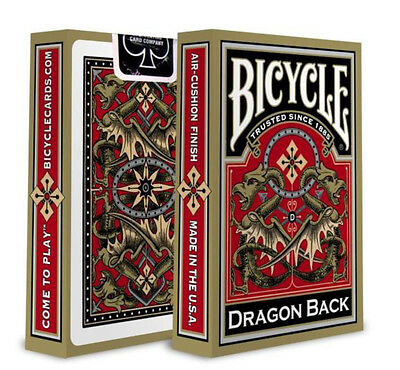 Bicycle Poker Playing Card Deck Dragon Back Gold. • 5.99£