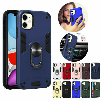 AU8.99 • Buy Phone Case For Iphone 11 Pro Max 6S 7 8 Hard Armor With Rotating Ring Kickstand