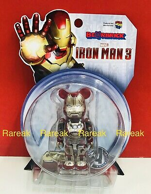 $109.99 • Buy Medicom Be@rbrick 2015 Marvel Iron Man 3 Mark XLII 42 Damage 100% Bearbrick