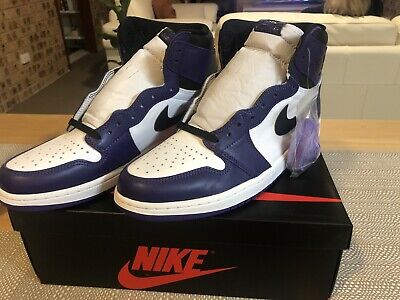 AU212.50 • Buy Air Jordan 1 Court Purple High Og 11.5 Us 10.5 Uk 11 12 Nike Yeezy Deadstock DS