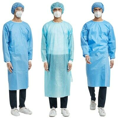 Medical Isolation Gown Dustproof Protection Gown Suit Safety Hospital Workwear • 7.90£