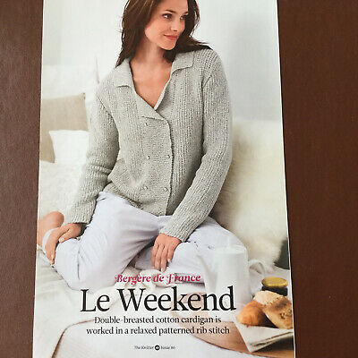 Bergere De France - LE WEEKEND - Double Breasted Cardigan  - Knitting Pattern • 2.50£
