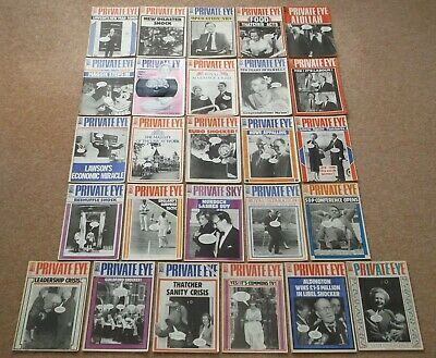 Private Eye Magazine 1989 Full Year All 26 Issues Excellent Condition • 30£