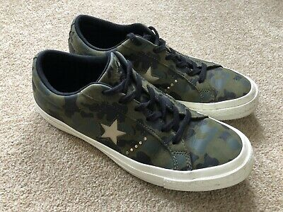 Worn Once Camouflage Converse All Star Trainers 6.5 39.5 • 14.99£