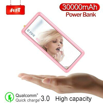 AU45.40 • Buy Best Power Bank 300000mAh Mirror Screen Portable Power Bank Battery Charger US