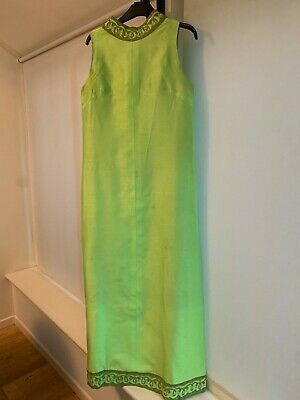 Vintage 70s Grecian Style Long Dress Neon Green • 4.90£