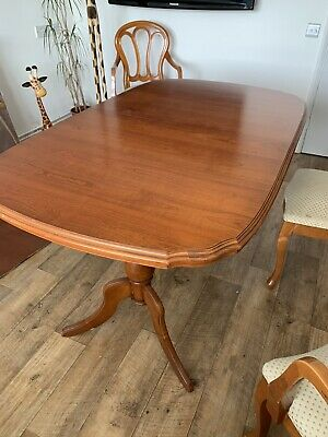 Younger - Extending Cherry Wood Dining Table & Chairs • 50£