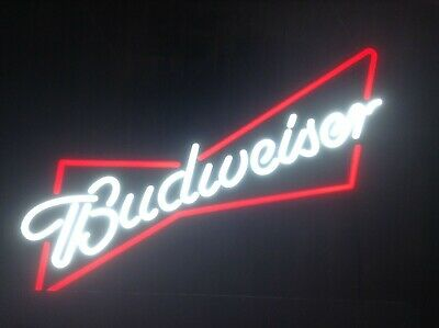 Stunning Budweiser Light Sign Bar Pub Man Cave Lager Beer 🍺 🍺 🍺 🍺 L👀k • 94£