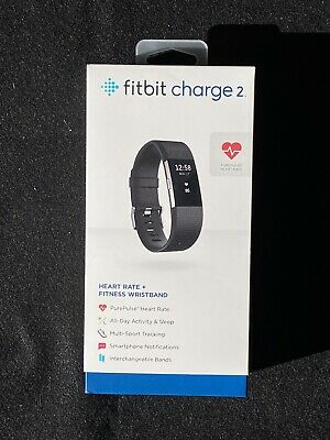 $ CDN25.95 • Buy Fitbit Charge 2 Heart Rate Fitness Wristband Black Large Band Scratcehd Screen