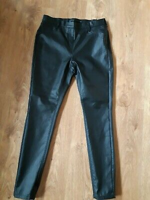 NEXT Pull On Stretchy  Leather Look Leggings Size 14r • 4.20£