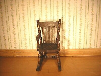 1/12th Dollshouse Miniature Hand Stained And Polished Rocking Chair • 6.95£