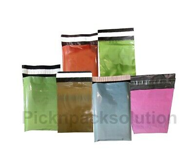 £0.99 • Buy Coloured Mailing Postage Bags Strong Plastic Poly Postal Post Free Cello Tapes