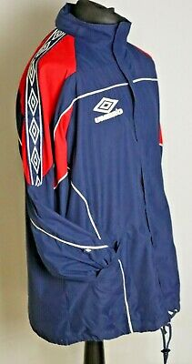 Umbro Blue Red Football Training Manager Coat Jacket Ref Vintage Retro 90's L • 30£