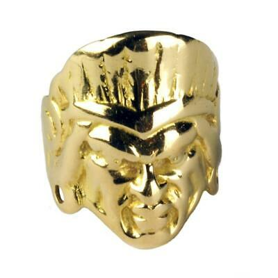 £425.91 • Buy Solid 18K Gold American Indian Chief Head Face Mens Ring