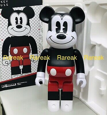 $645.99 • Buy Medicom Be@rbrick 2020 Disney Mickey Mouse Red & White 1000% R&W Bearbrick