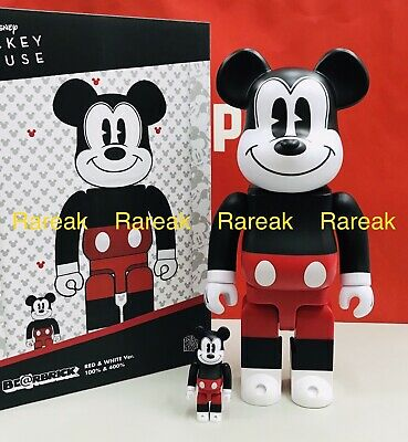 $120.99 • Buy Medicom Be@rbrick 2020 Disney Mickey Mouse Red & White 400% + 100% R&W Bearbrick
