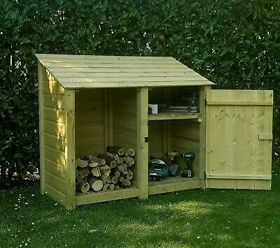 Cottesmore Outdoor Wooden Log Store - Available With Doors • 160£