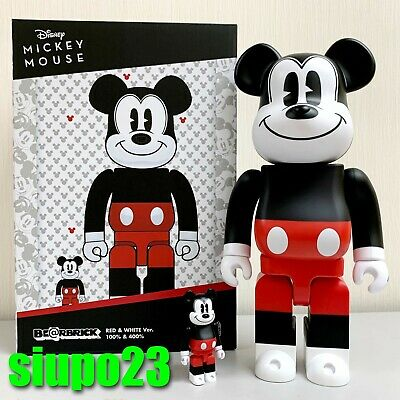 $119.99 • Buy Medicom 400% + 100% Bearbrick ~ Mickey Mouse 2020 Red & White Ver Be@rbrick R&W