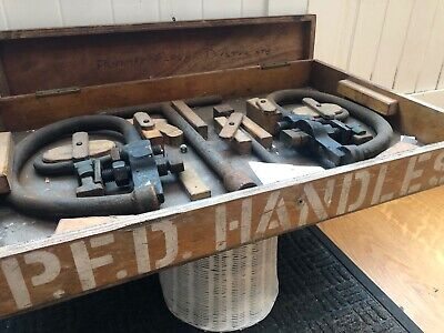 Vintage Fire Engine Lifting Equipment In Wooden Box. • 20£
