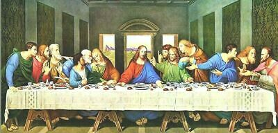 £17.99 • Buy The Last Supper - Quality Canvas 30 X16  Wall Art, Ready To Hang