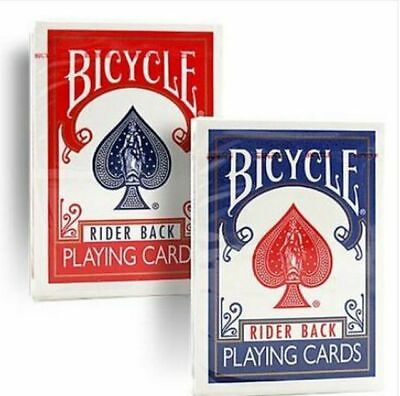 2 X Decks Bicycle Rider Back 807 Playing Cards - Classic Tuck Box. RED & BLUE  • 8.99£
