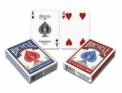 BICYCLE GAFF CARDS - *Double Face* Magic Magician Trick Decks Playing Cards RED • 5.99£