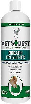 Vets Best Dental Breath Freshener For Dogs, 500ml Natural Anti-Bacterial Agents • 8.84£