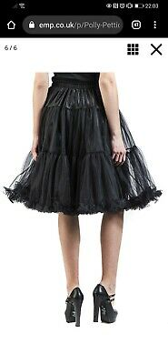 Hell Bunny Polly Long Tulle Petticoat Swing Flare Skirt 50's Rockabilly Vintage • 7.99£