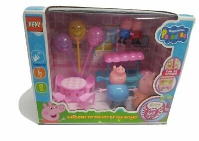 Pig Family Figures Pack  Mummy Daddy   George Kids Play Toy Set New Dancing Pig • 14.45£