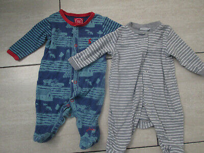 BABY BOYS SLEEPSUITS/BODYSUITS X 2 - AGE 0-3 MONTHS - FROM JOULES / JO JO MAMAN  • 8£