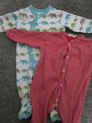 BABY BOYS BODYSUITS / ALL IN ONES X 2 - AGE 0-3 MONTHS - FROM ORGANICS FOR KIDS • 10£
