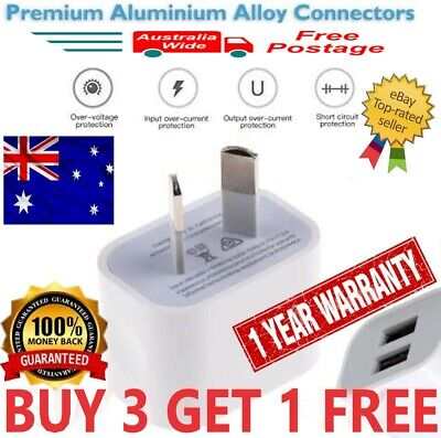 AU8.99 • Buy Universal USB Phone Wall Charger 5v 2.1A Power Travel Adapter AU PLUG 1 & 2port