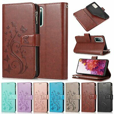 AU21.06 • Buy For Samsung S20 FE S10e S9+ S8 S7 Note 20 Zipper Wallet Leather Flip Case Cover