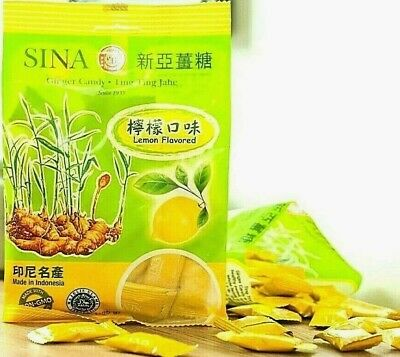 Sina Ginger Candy With Lemon Ting Ting Jahe 4.4 Oz ( Pack Of 6 ) • 20.02£
