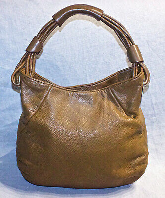 AU39 • Buy RRP$495 OROTON Tawny Brown Leather Shoulder Bag/Handbag/Alpine Gather Hobo