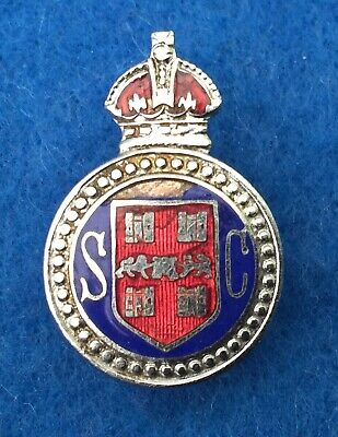 Winchester City Police Special Constable Numbered 4 Lapel Badge Disbanded 1943 • 8.50£