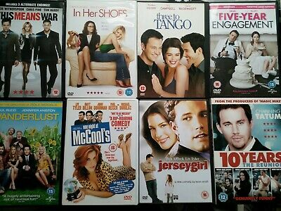 Jersey Girl/In Her Shoes/Wanderlust/Three To Tango/One Night At McColl's + Dvds • 6£