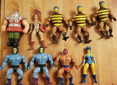 $49.99 • Buy Vintage Masters Of The Universe He-Man Action Figure Lot, 80's Toys (9 Pieces)