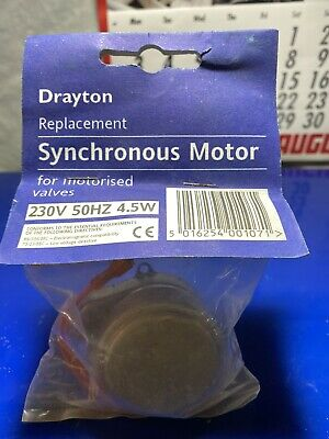 New DRAYTON Replacement Zone Valve Synchronous Motor In Original Packaging • 7.60£