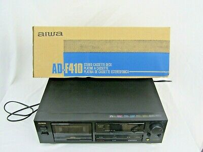 BOXED AIWA CASSETTE DECK Hi Fi Stacking AD-F410 SPARES OR REPAIR Only  • 15£