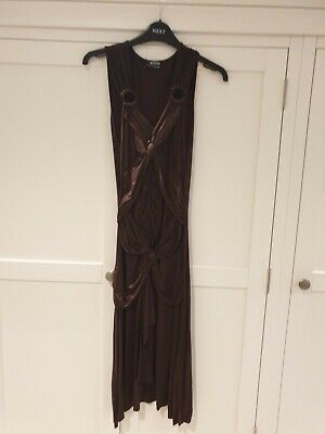 Morgan Women's Brown Fitted Grecian Style Dress Size 8 - Great Condition  • 5.99£