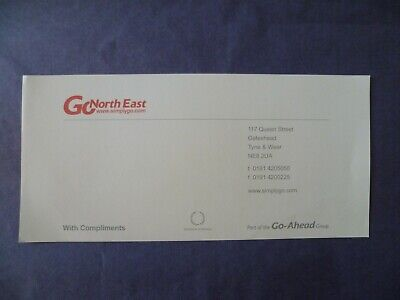 Go North East Compliments Slip - Unmarked • 0.99£