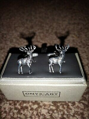 Standing Stag Cufflinks By Onyx-Art London • 2.60£
