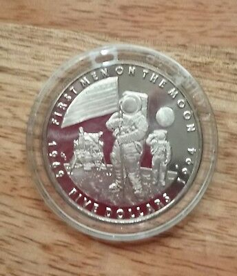 First Man On The Moon Space Coin 1994 Brilliant Uncirculated • 9.99£
