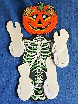 $ CDN38.81 • Buy Vintage Beistel Halloween Die Cut Jack O Lantern Ghoul Honeycomb Dangler Dancer