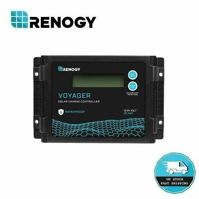 Renogy Voyager 20A PWM Waterproof Solar Charge Controller W/ LCD Display  • 35.99£