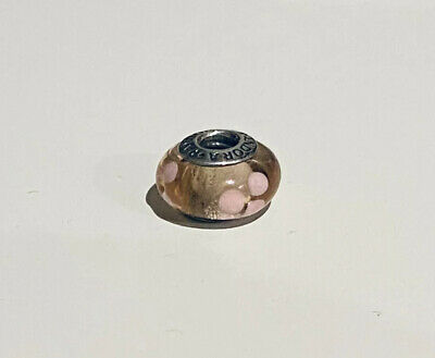 AU10 • Buy Authentic PANDORA S/Silver & Murano Glass  PINK FLOWERS Charm. #790619