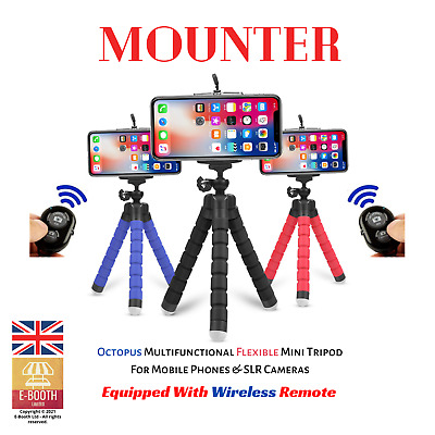 Universal Mini Mobile Phone Tripod Octopus Stand Grip Holder IPhone SLR Camera • 4.99£