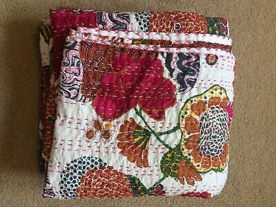Kantha Large Handmade Indian Blanket Throw New • 30£
